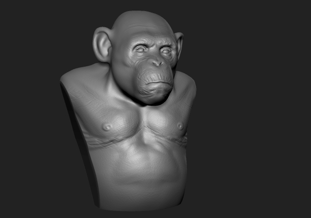 chimp_sculpt